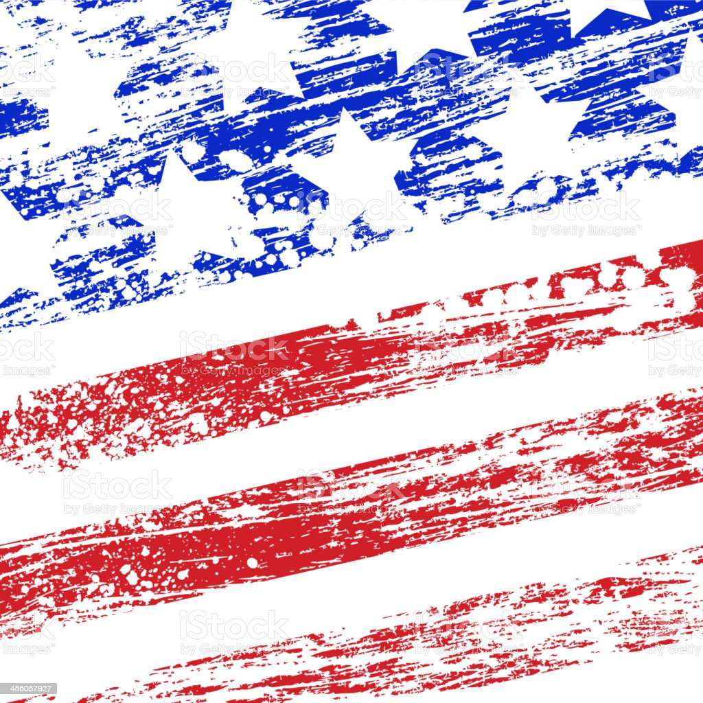 Grunge USA flag vector art illustration