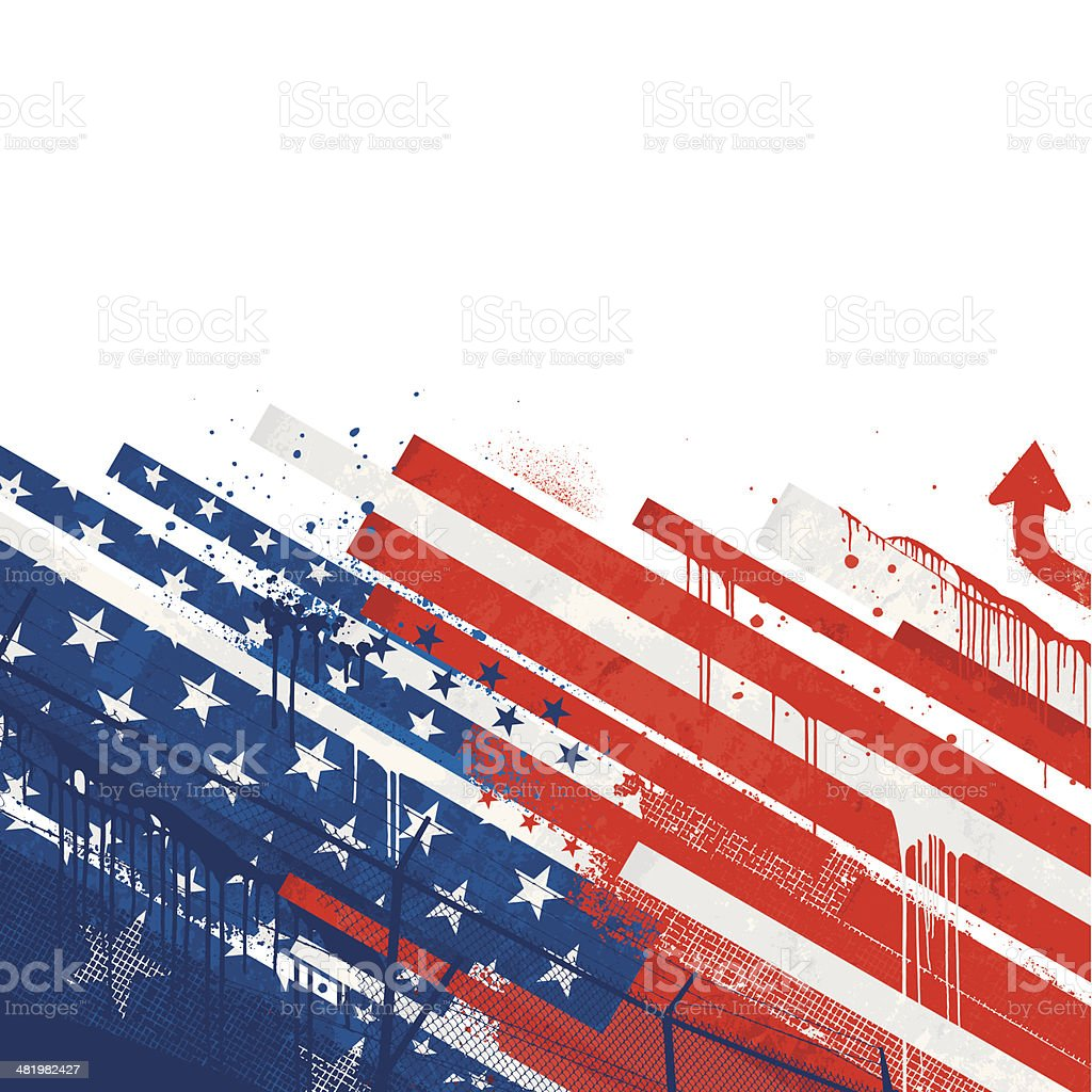 Grunge USA flag royalty-free stock vector art