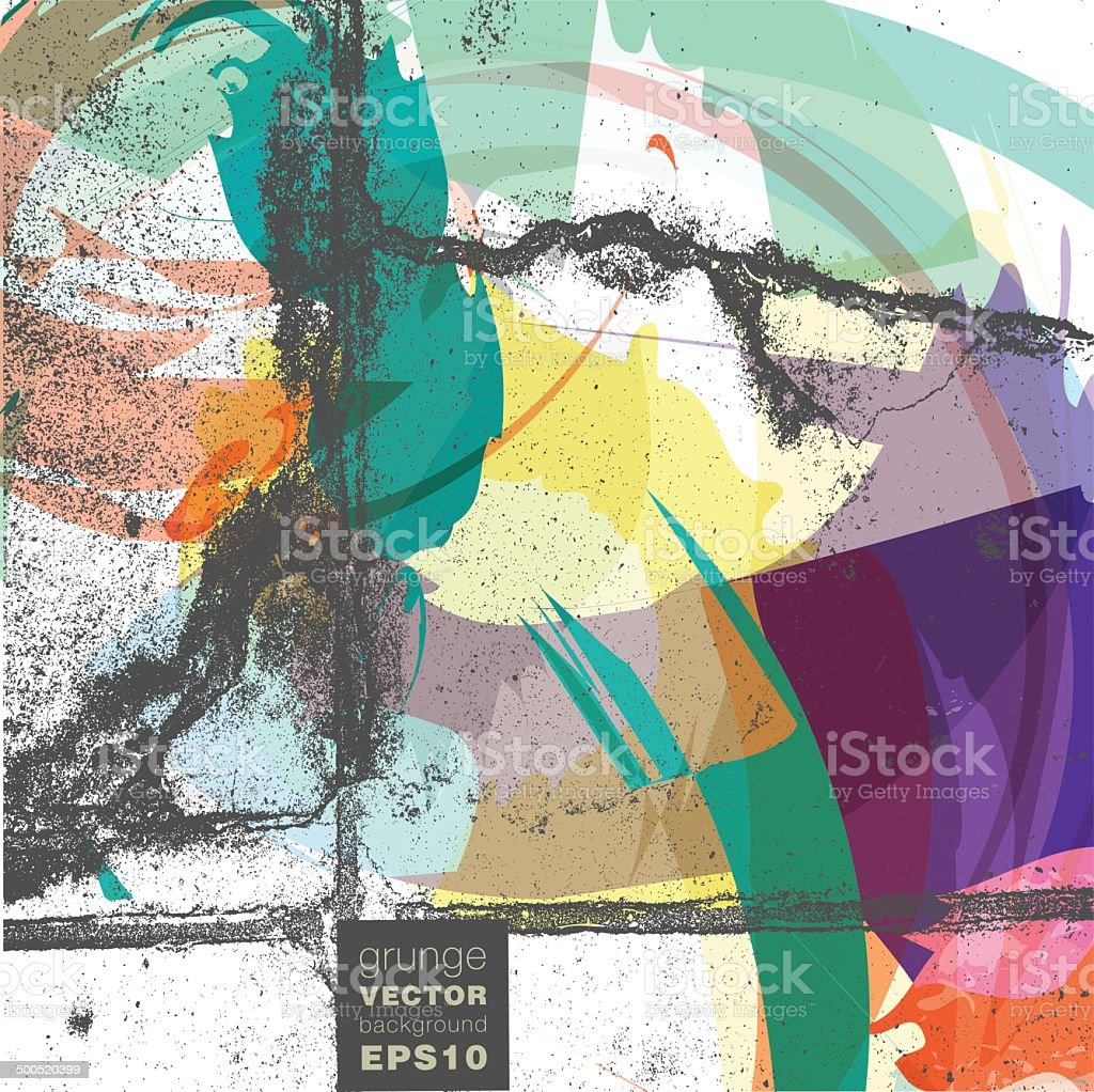 Grunge vector background illustration royalty-free stock vector art