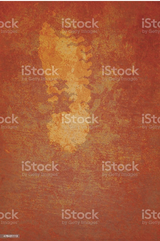 Grunge Vector Background - Impression of foot royalty-free stock vector art