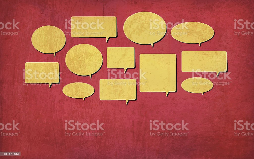 Grunge Vector Feedback, Chat Bubbles royalty-free grunge vector feedback chat bubbles stock vector art & more images of abstract