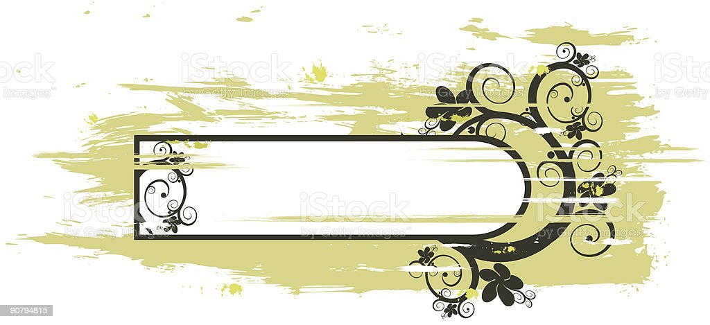grunge vector floral frame royalty-free stock vector art