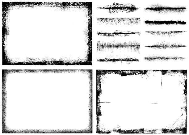 grunge-vektor-bilder-set - verzweiflung stock-grafiken, -clipart, -cartoons und -symbole