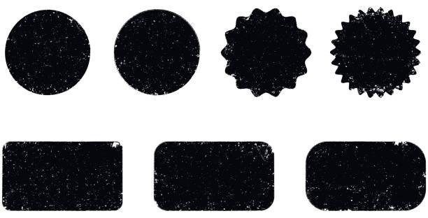 kształty uszczelnień wektorowych grunge - pieczęć gumowa stock illustrations