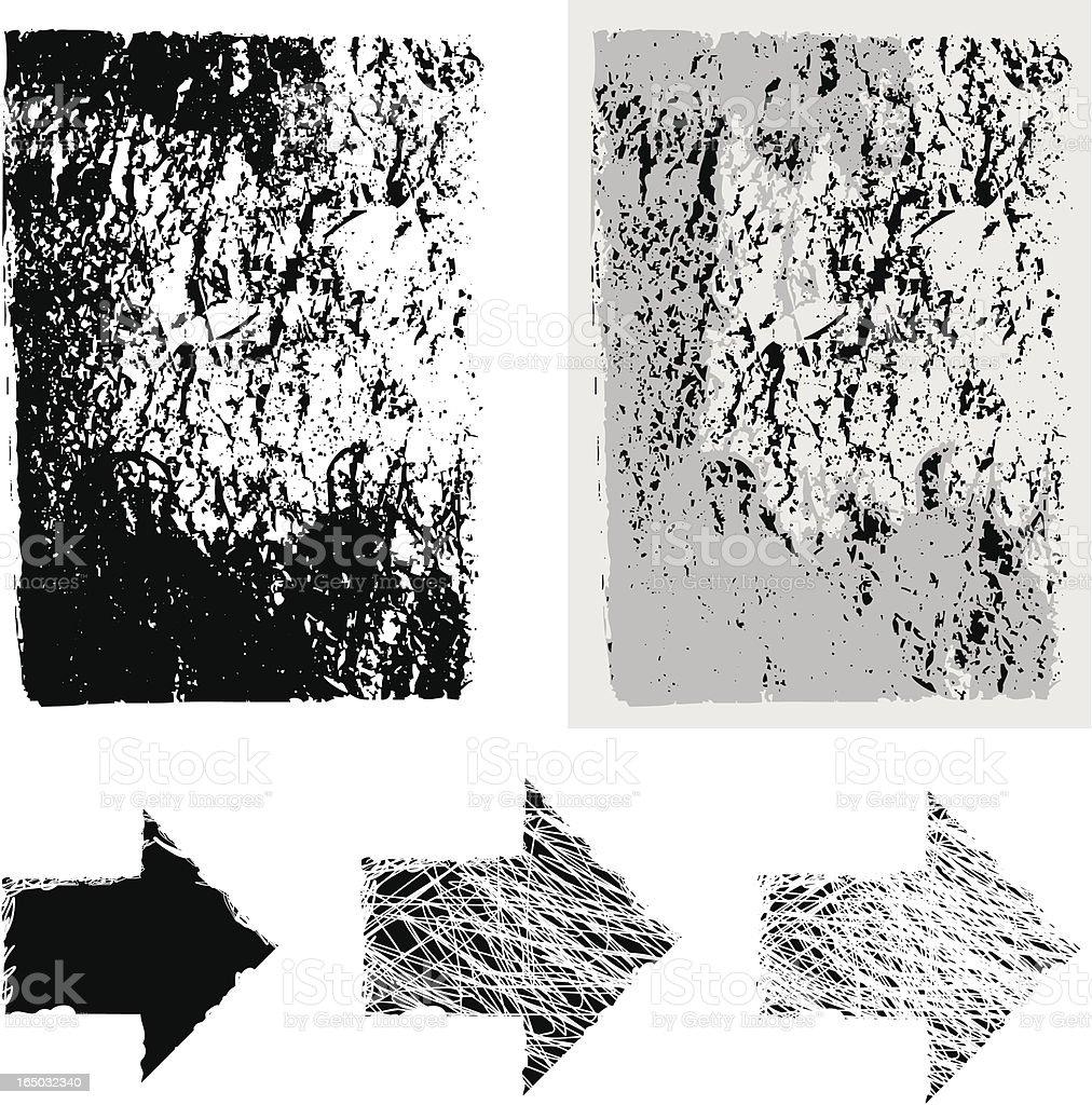 grunge vector set royalty-free stock vector art