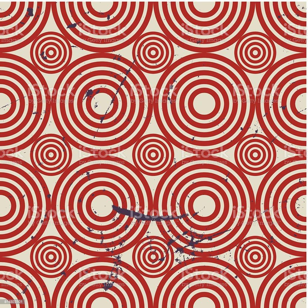 Grunge vintage geometric seamless pattern, old vector repeat vector art illustration