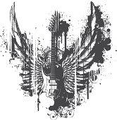 grunge winged guitar