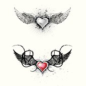best grunge wings for your valentine / tattoo