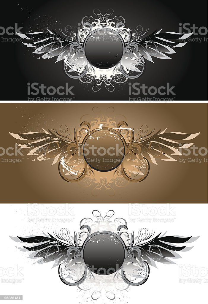 Grunge Wings Art royalty-free grunge wings art stock vector art & more images of angel