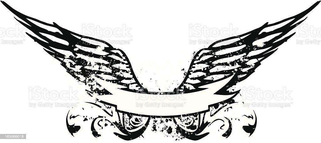 grunge wings stock vector art  u0026 more images of air force 165066018