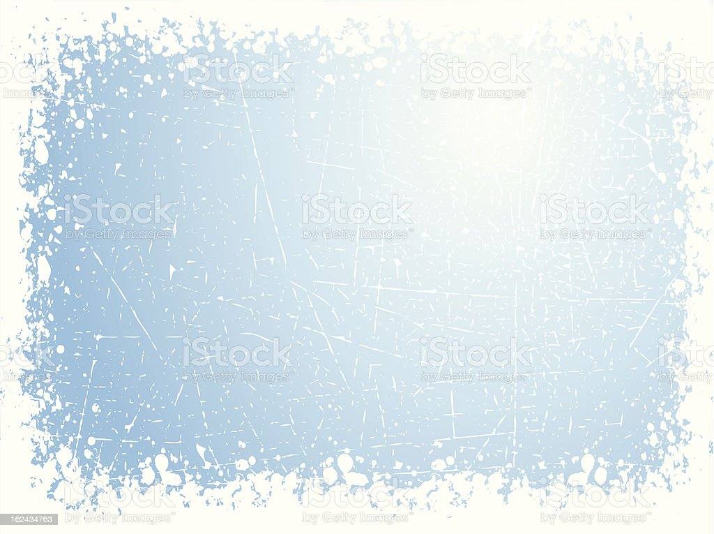 Grunge winter background vector art illustration