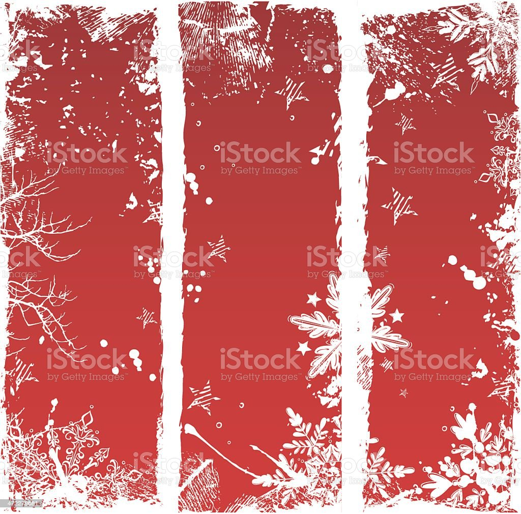 Grunge Winter Banners royalty-free grunge winter banners stock vector art & more images of backgrounds