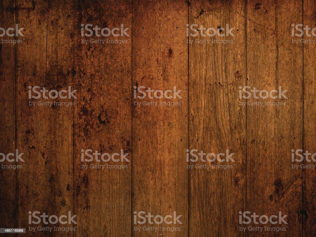 Grunge wood background vector art illustration