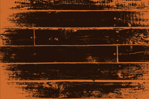 그런지 목재 텍스처와 - wood texture stock illustrations