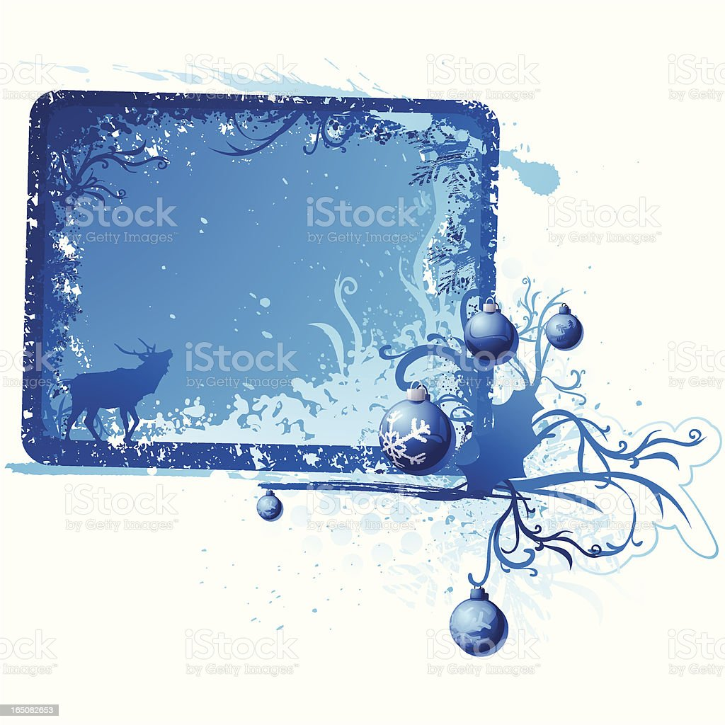 Grunge Xmas Placard royalty-free stock vector art
