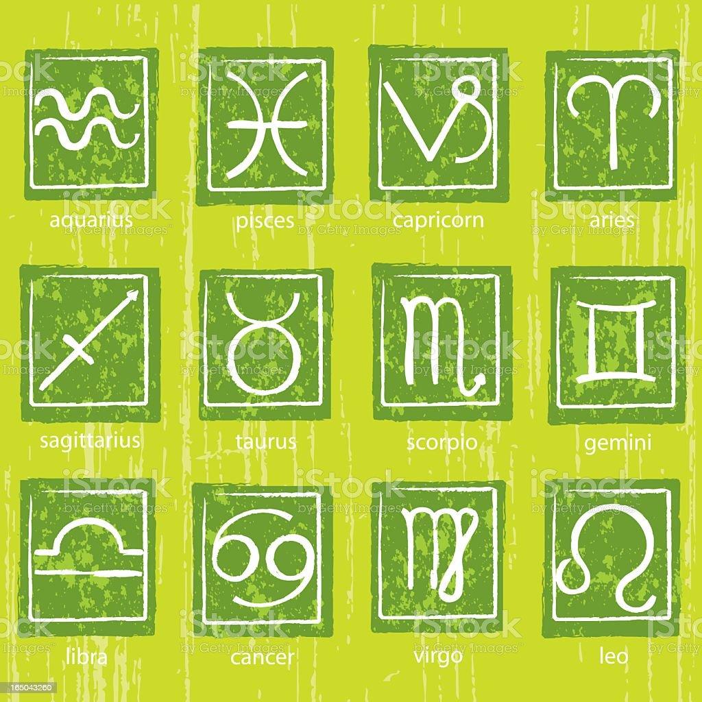 Grunge Zodiac Symbols royalty-free grunge zodiac symbols stock vector art & more images of astrology sign