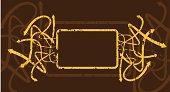 grungy arrow frame