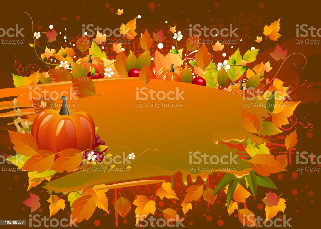 Grungy Autumn Background royalty-free stock vector art