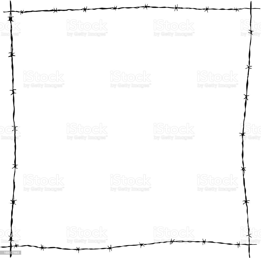 Grungy Barb Wire Frame ( Vector ) royalty-free grungy barb wire frame stock vector art & more images of barbed wire