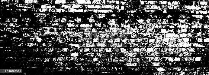 istock Grungy brick wall texture 1174089654