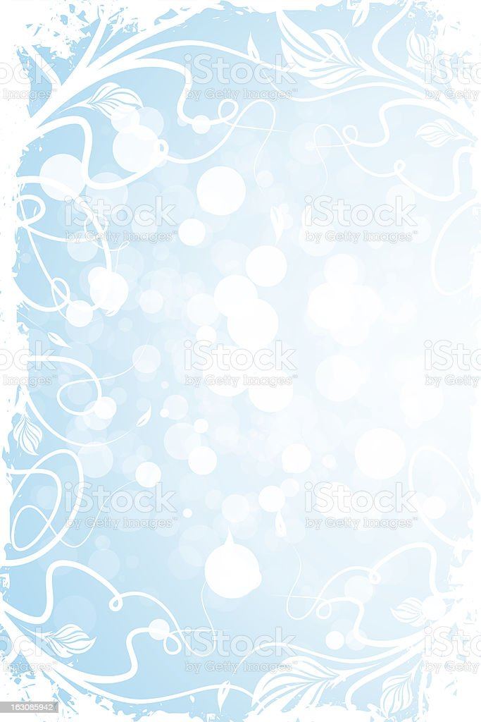 Grungy Floral Background royalty-free stock vector art