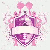 Grungy Football Cheerleader Crest