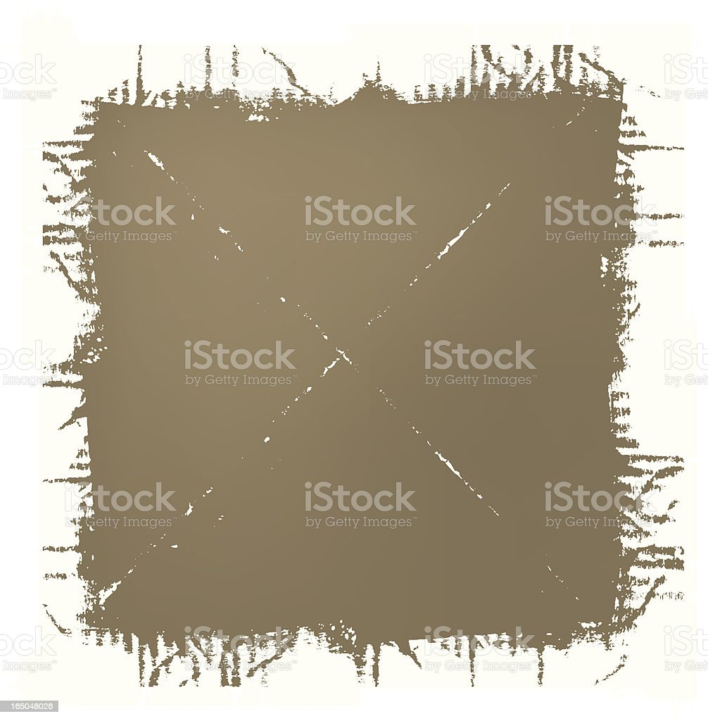 Grungy frame CRAFT royalty-free stock vector art