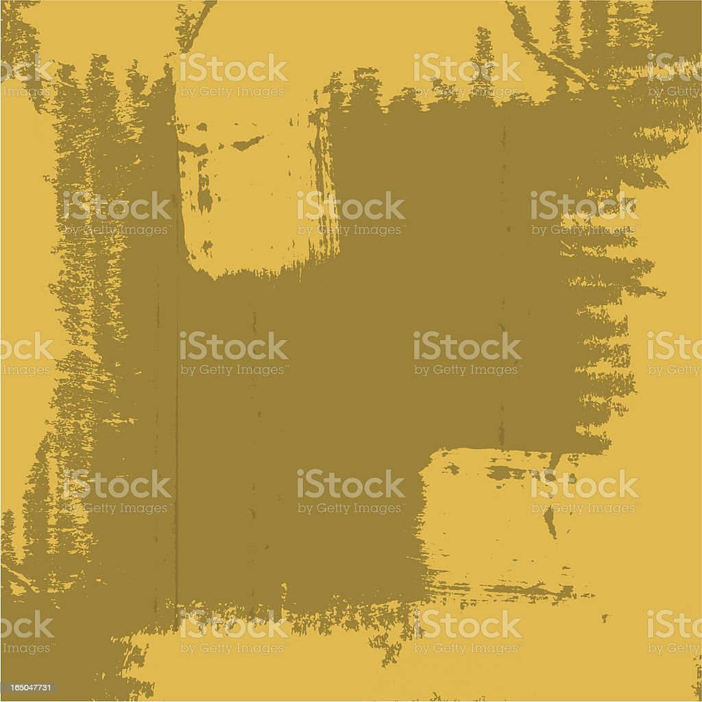 Grungy frame YELLOW vector art illustration