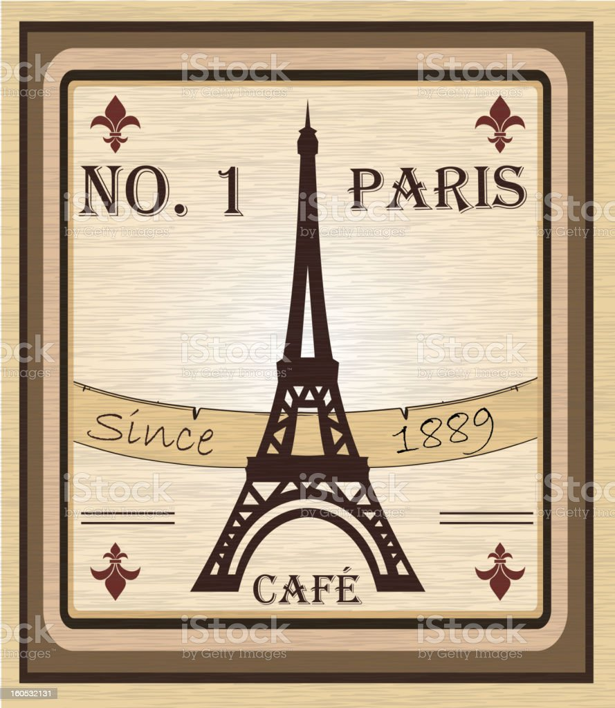 Grungy French coffee background royalty-free stock vector art