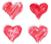 Grungy hearts