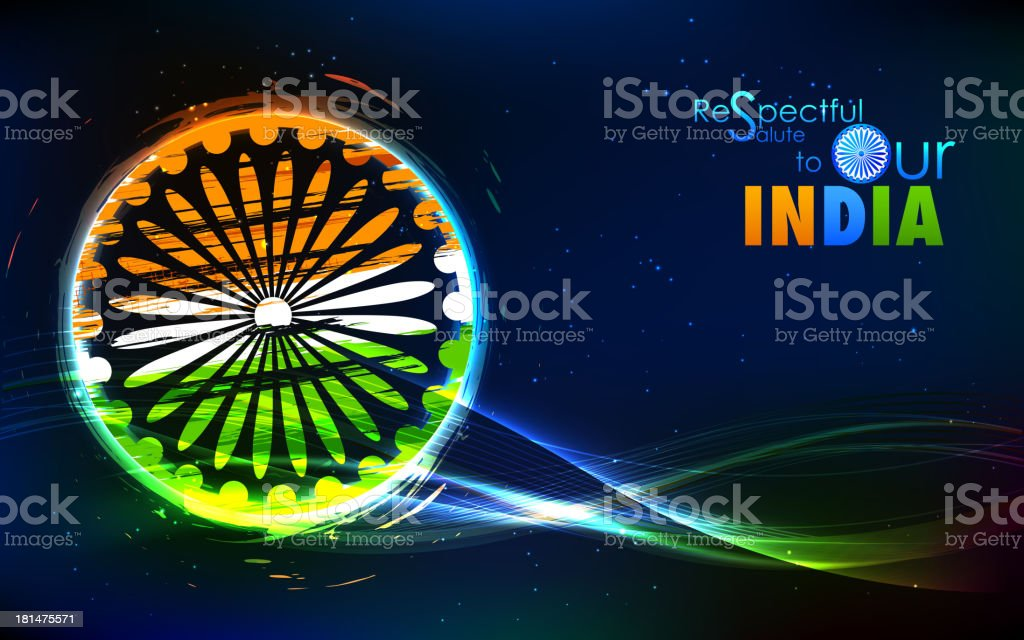 Grungy Indian Flag royalty-free stock vector art