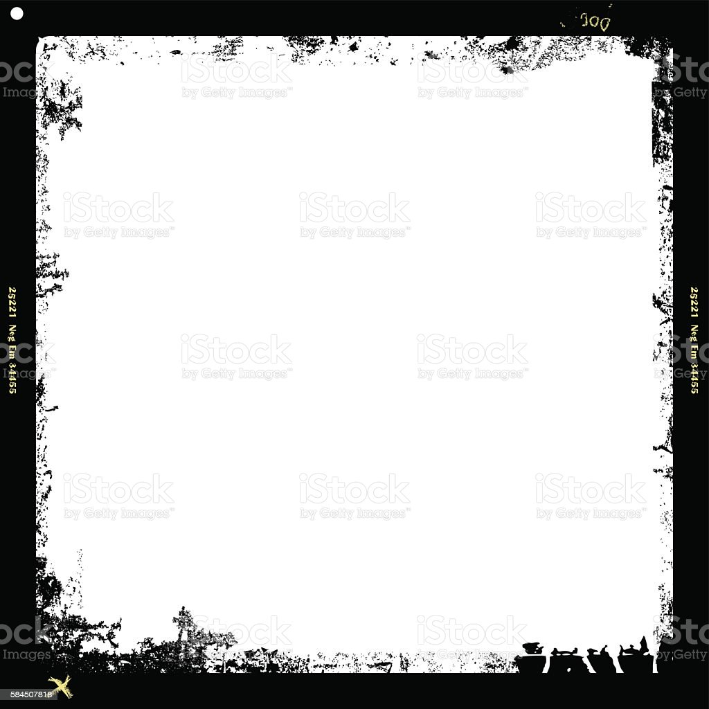 grungy medium format film frame – Vektorgrafik