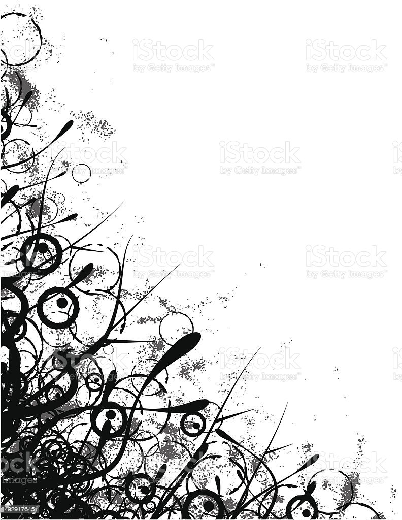 Grungy Organic Corner Frame Stock Vector Art & More Images of ...