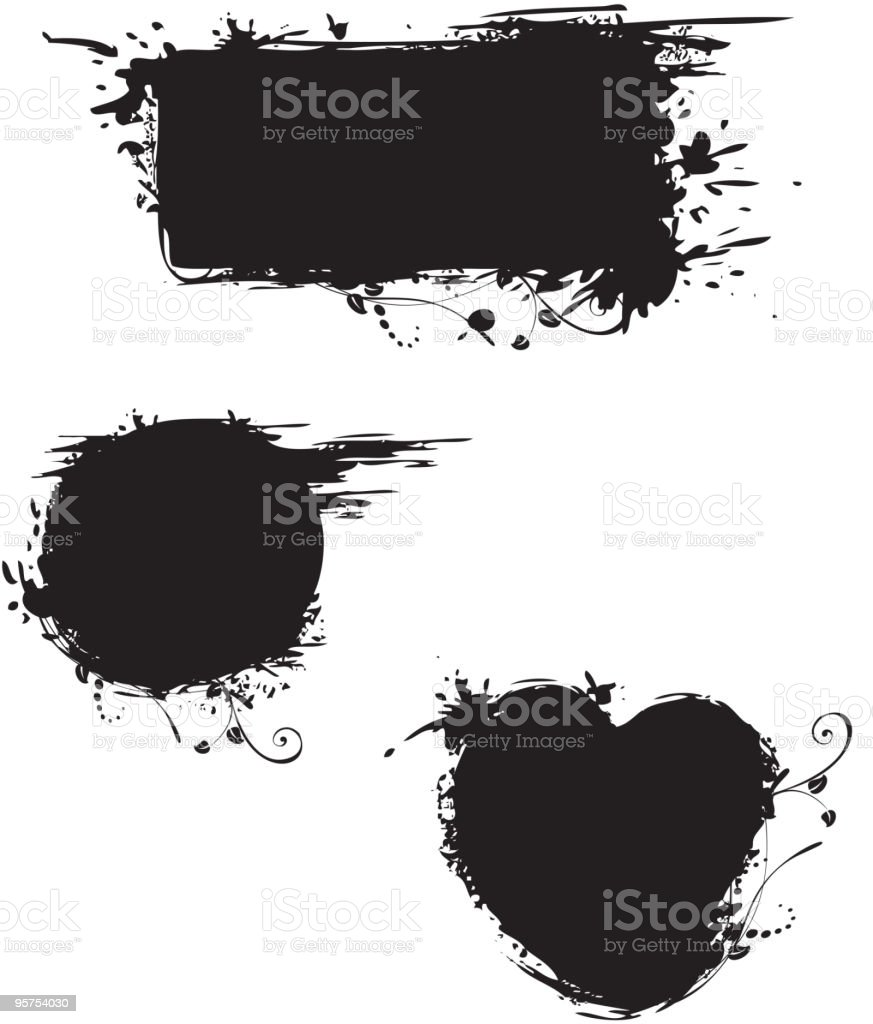 Grungy shapes royalty-free stock vector art
