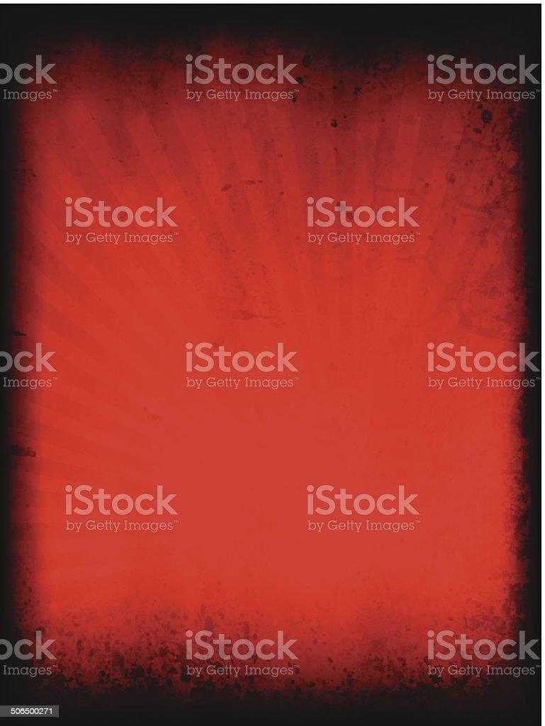 Grungy vector Sunburst Background royalty-free stock vector art