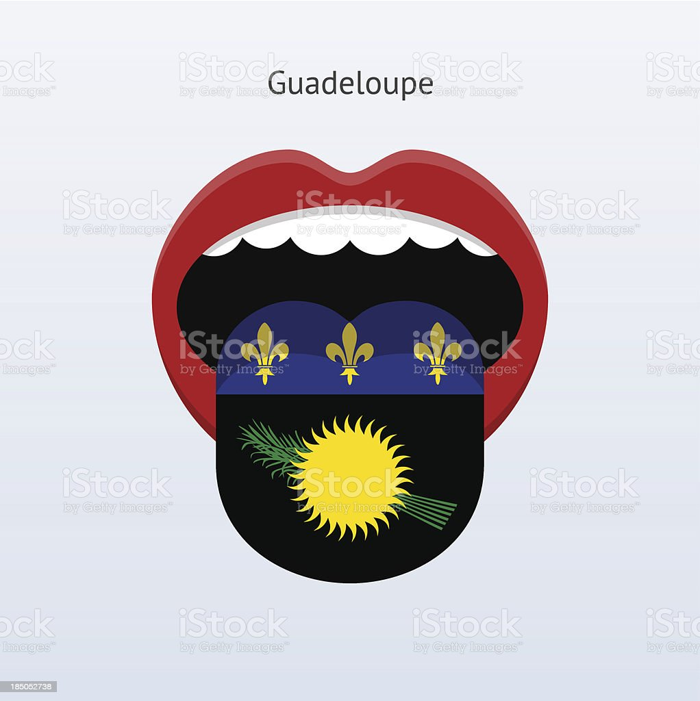 Guadeloupe language. Abstract human tongue. royalty-free stock vector art