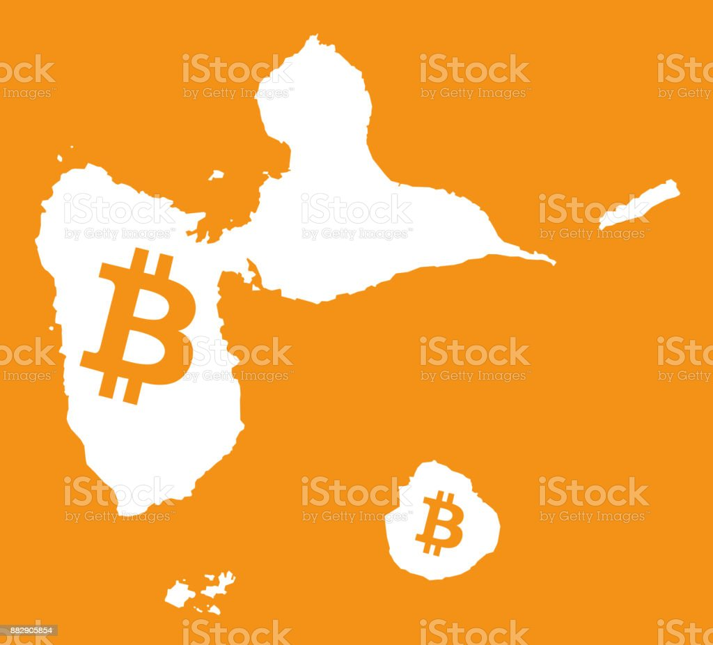 Guadeloupe map with bitcoin crypto currency symbol illustration guadeloupe map with bitcoin crypto currency symbol illustration royalty free stock vector art buycottarizona