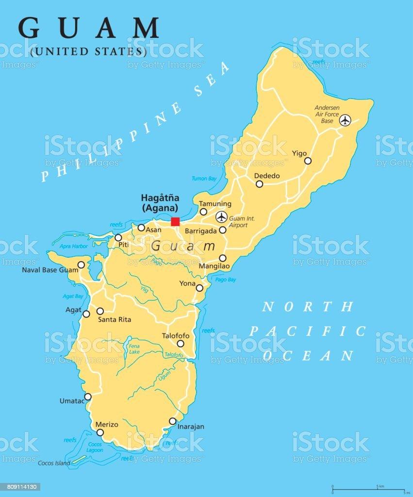 Guam Political Map Stock Vector Art & More Images of Austria - iStock