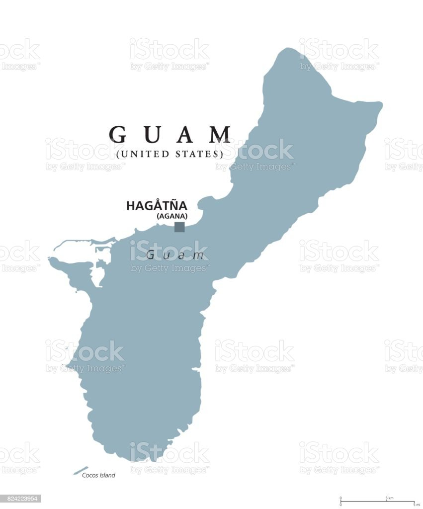 Guam political map vector art illustration
