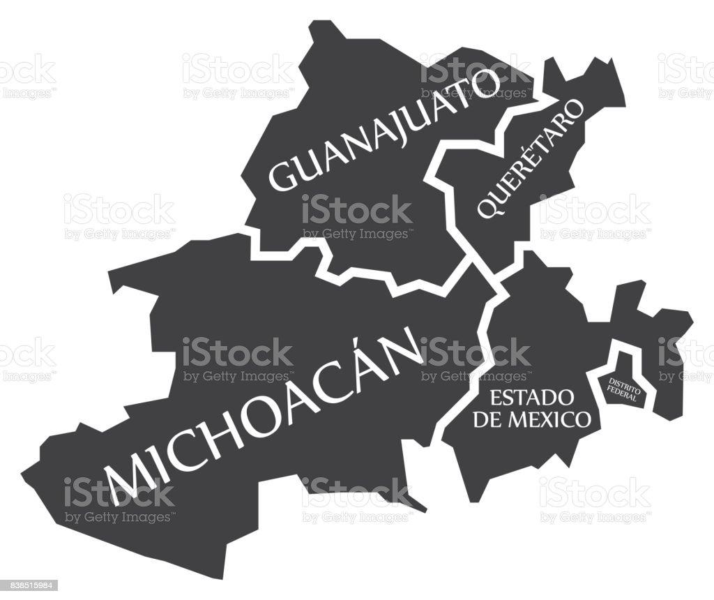 guanajuato queretaro michoacan estado de mexico distrito federal