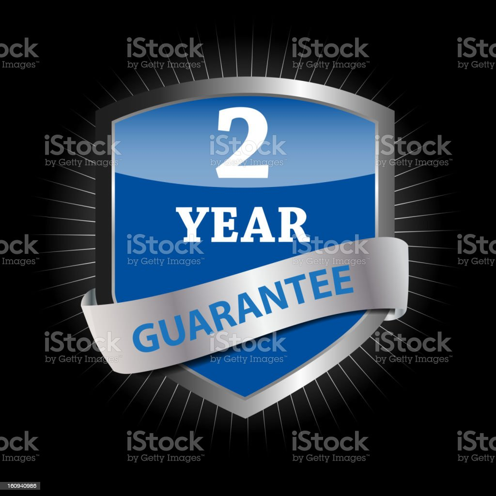 Guarantee label shield vector illustration royalty-free stock vector art