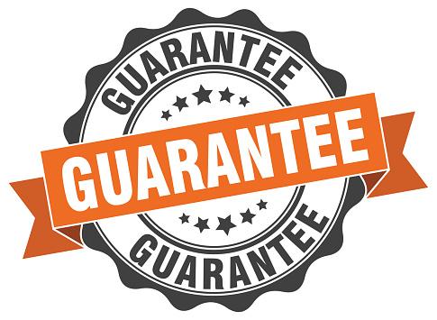 guarantee stamp. sign. seal