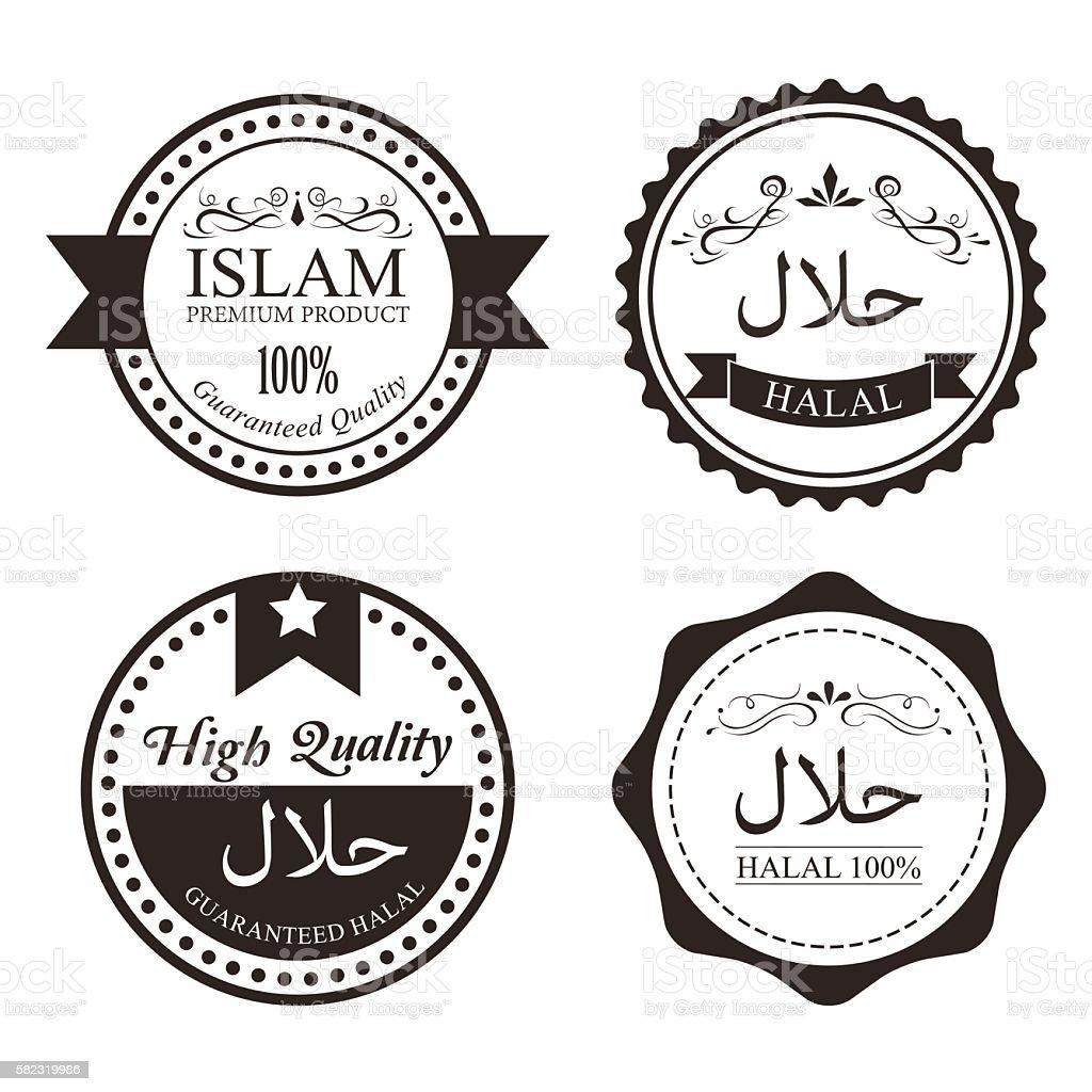 Guaranteed halal food sign certified product label badge stock guaranteed halal food sign certified product label badge royalty free stock vector art buycottarizona