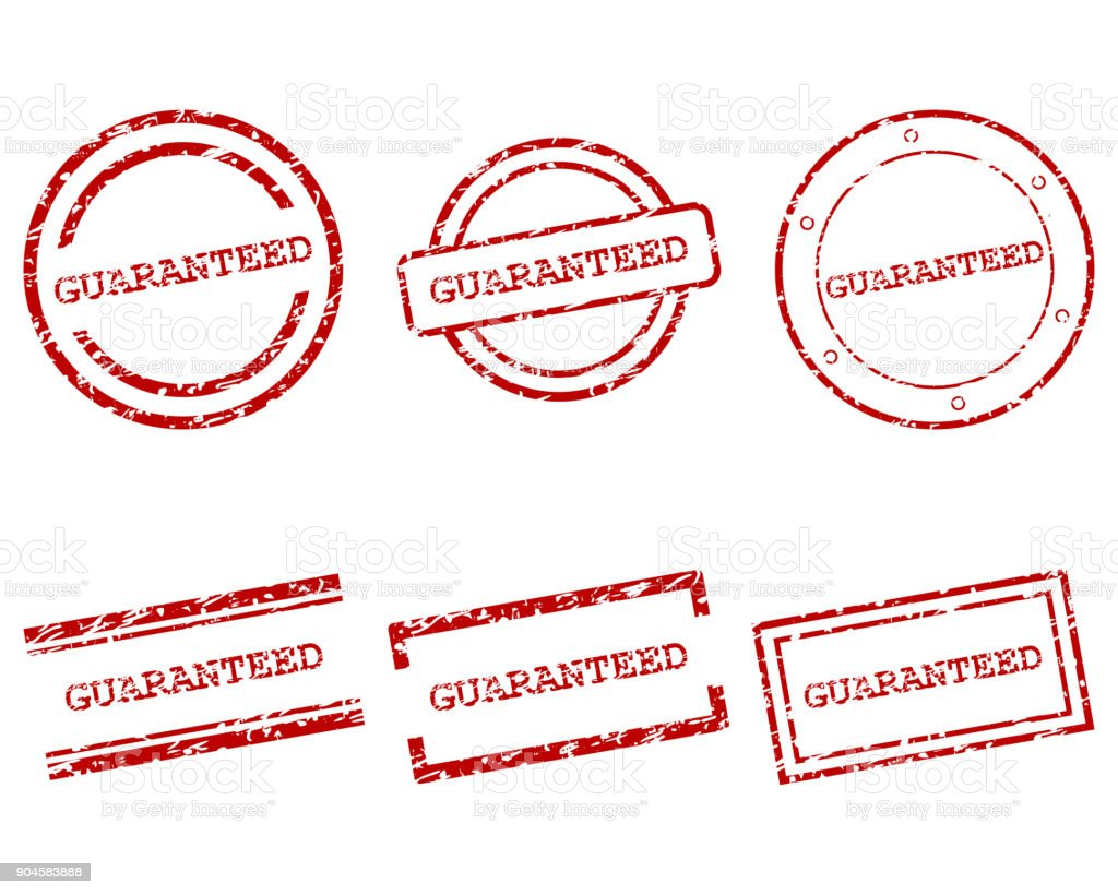 Guaranteed stamps vector art illustration