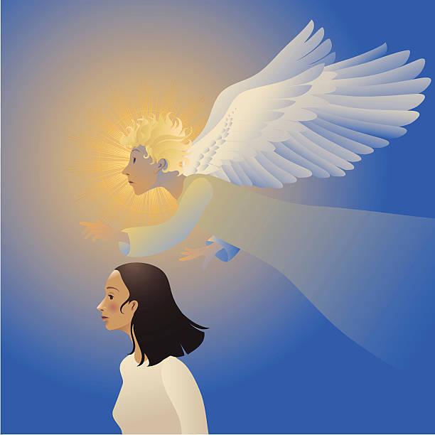 guardian angel - schutzengel stock-grafiken, -clipart, -cartoons und -symbole