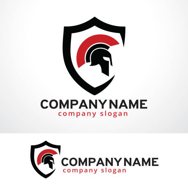 보호자 기호 서식 파일 디자인 벡터, 상징, 디자인 컨셉, 창조적인 기호, 아이콘 - 샘플 텍스트 stock illustrations