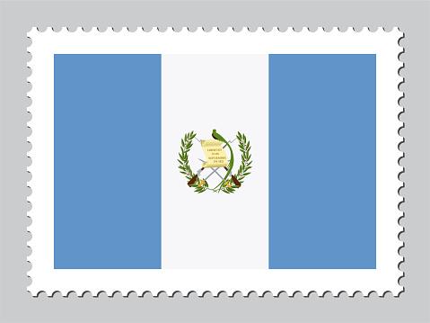 Guatemala flag postage stamp