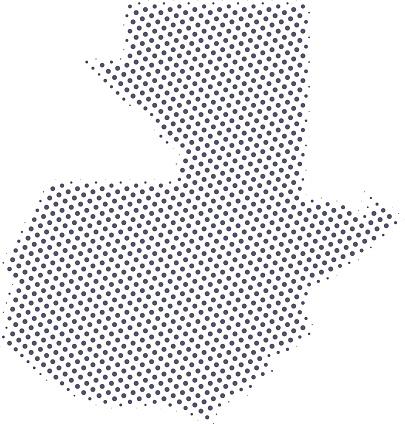 Guatemala map of dots
