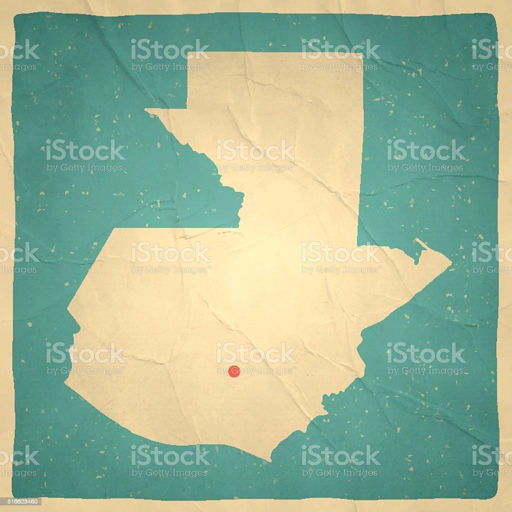 Guatemala Karte.Guatemala Karte Auf Alten Papiervintagelook Stock Vektor Art Und