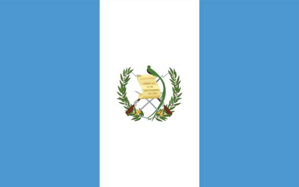 Guatemala Vector of nice Guatemalan flag. central america stock illustrations